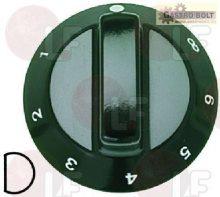 Gomb fekete  ø 60 mm 1-2-3-4-5-6