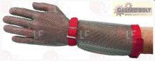 """Rozsdamentes kesztyű karvédővel (méret """"M"""")"""