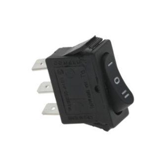 Hárompólusú kapcsoló (fekete) 16A 250V