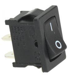Egypólusú kapcsoó (fekete) 10A 250V