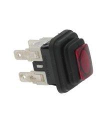 kétpólusú kapcsoló piros16A 250V