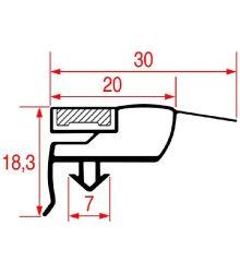 bepattanó ajtó tömítés 1550x690 mm