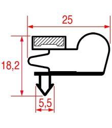 Ajtó tömítés (mágneses) 1565x664 mm