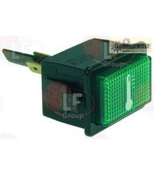hőmérséklet jelzőfény zöld 230V