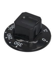 Gomb fekete ø 55 mm 110-350°C