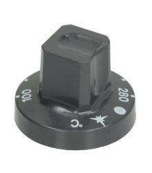 Gomb fekete ø 55 mm 100-280°C
