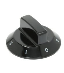 Gomb fekete ø 60 mm 0-1-2-3-4-5-6