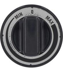 Fekete gomb MIN-MAX ? 70 mm