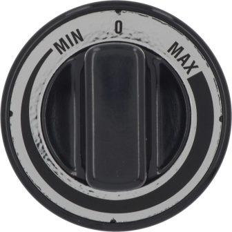 Fekete gomb MIN-MAX ø 70 mm
