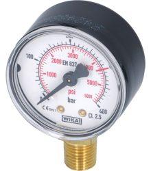 Nyomásmérő N2 HP 0-400 bar 1/4G