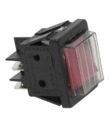 Bipoláris nyomógomb piros 16A 250V