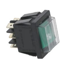 Zöld bipoláris kapcsoló 16A 250V