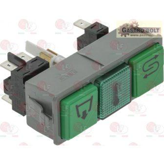 zöld dupla kapcsoló blokk 250V 16A