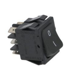 Átállító bipoláris kapcsoló fekete 16A 250V