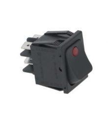 Fekete bipoláris kapcsoló 16A 250V
