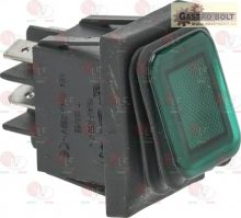 bipoláris nyomógomb zöld 16A 250V