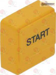 """nyomógomb SQUARE sárga 23x23 mm """"start"""