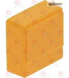 nyomógomb SQUARE sárga 23x23 mm