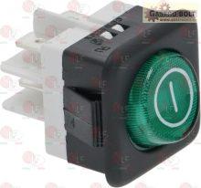 2 pólusú kapcsoló zöld 16A 250V