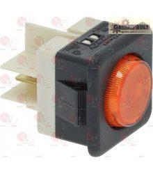 jelzőfény fehér 10A 250V