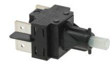 Fekete két pólusú kapcsoló  16A 250V