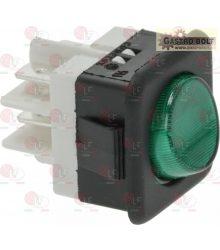 2 pólusú apcsló zöld 16A 250V