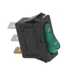 1-pólusú kapcsoló zöld 16A 250V
