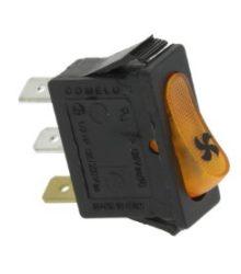Narancssárga egypólusú kapcsoló 16A 250V