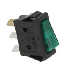 Kapcsoló 1-pólusú zöld 16A 250V