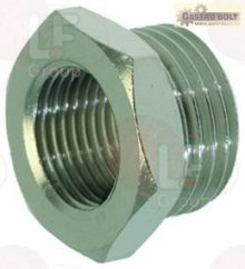 "NICHEL-PLATED FITTING ø 1/2""M-3/8""F"