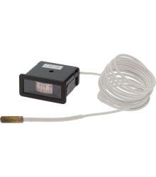 Távhőmérő 58x25 mm -40+40°C Fekete