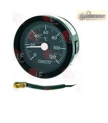Távhőmérő fekete ? 52 mm 0-120°C