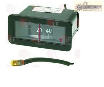 Fekete TELETHERMOMETER 56x25 mm 0-120°C