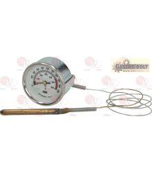 Teletermométer fehér ø 60 mm 0-600°C