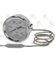 TELE-THERMOMETER WHITE ø 60 mm 0-500°C