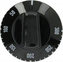 fekete gomb ø 50 mm 50-300°C