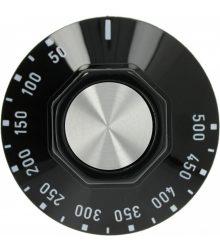 Fekete gomb ø 50 mm 50-500°C