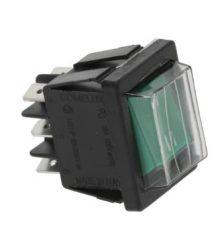 Váltó 2-pólusú kapcsoló zöld 16A 250V