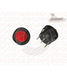Billenőkapcsoló STV07 piros,világítós kerek