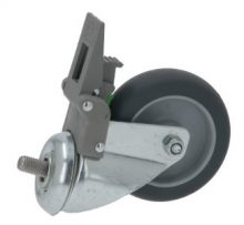 CASTOR SWIVEL WITH PIN AND BRAKE