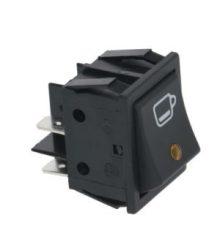 Kapcsoló 2-pólusú fekete 16A 250V