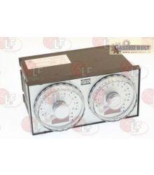 Dupla időzítő 72X144 24 VAC LCD
