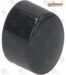 elliptikus nyomógomb 17x13mm sötét szürke