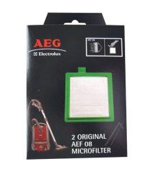 Elszívó légszűrő AEG 900195150/9 AEF08 AirMax mikrofilter keretben porszívóhoz 2db EF17