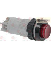 Piros bipoláris nyomógomb 2A 250V