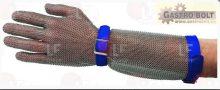 """Rozsdamentes kesztyű karvédővel (méret """"L"""")"""