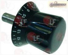 Fekete időzítő gomb  ø 12x82 mm