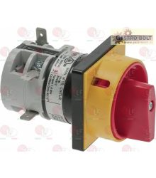 ROTARY SWITCH RED 20A 600V