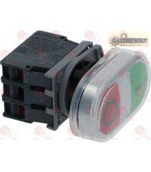 Nyomógomb panel O-I zöld-piros 15A 600V