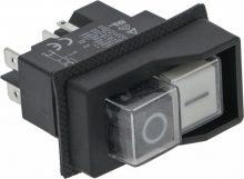 Nyomógomb panel  0-I WHITE-BLACK 16A 250V